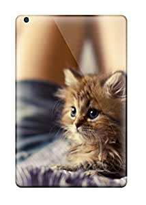 Rugged Skin Case Cover For Ipad Mini/mini 2- Eco-friendly Packaging(cat On A Girls Belly)