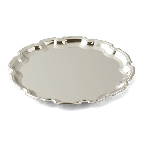 Top 10 Jewelry Gift Nickle-plated Round 10inch Chippendale Tray
