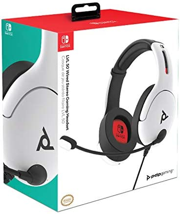 PDP - Auricular Stereo Gaming LVL50 con Cable, Blanco (Nintendo ...