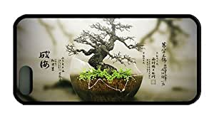 Hipster iphone 5 personalized cases bonsai tree TPU Black for Apple iPhone 5/5S