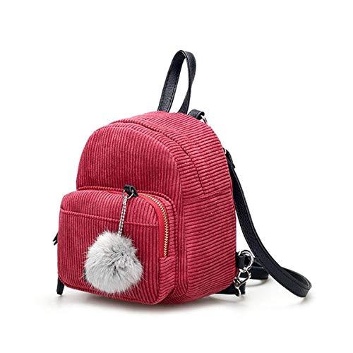 Bolsa Sólido Escuela Mochila Niñas Caqui Viaje Bola Moda Mini La Colgante Rmxmy Simple color Pink Creativa De Tendencia Linda Salvaje Color Para Personalidad xwPqdIS