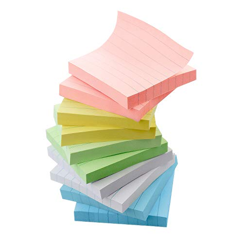 - Early Buy 5 Candy Color Lined Sticky Notes Self-Stick Notes 3 in x 3 in, 100 Sheets/Pad, 10 Pads/Pack (Candy)