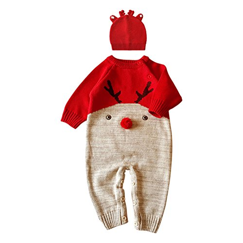 Good The Bad And The Ugly Costumes (Fashion Story Toddler Unisex Baby Newborn Baby Kids Sweater Deer Theme Christmas Infant Romper Jumpsuit 0-22 Months)
