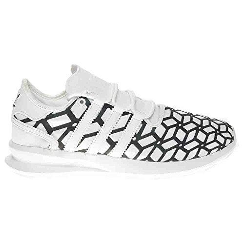 Adidas Originals Mens Sl Upphov Print Mode Sneaker Vit / Vit / Svart