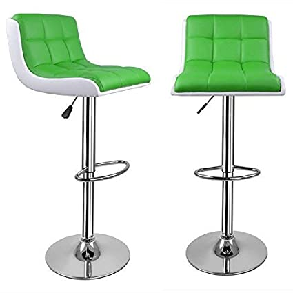 Wondrous Promotion 2 X Retro Bar Stools For Kitchens Green Leather Breakfast Bar Stools Bar Stool Kitchen Stools Adjustable Height 60 To 80Cm Pdpeps Interior Chair Design Pdpepsorg