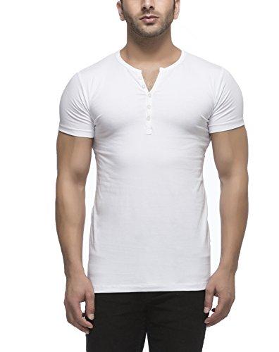 Tinted Men's Solid Henley Half Sleeve T-Shirt