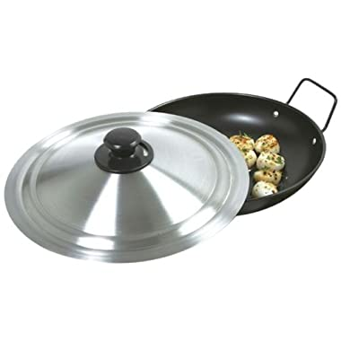 Norpro 12.5  Universal Vented Steam Release Stainless Steel Cookware Lid, Silver