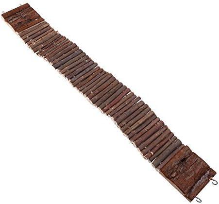 Escalera/puente colgante para jaula de animal doméstico; ideal para roedores, loro, pájaro, etc. - Escalera o puente colgante de madera; juguete flexible de madera natural masticable: Amazon.es: Hogar