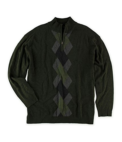 1/4 Zip Argyle Sweater - 8