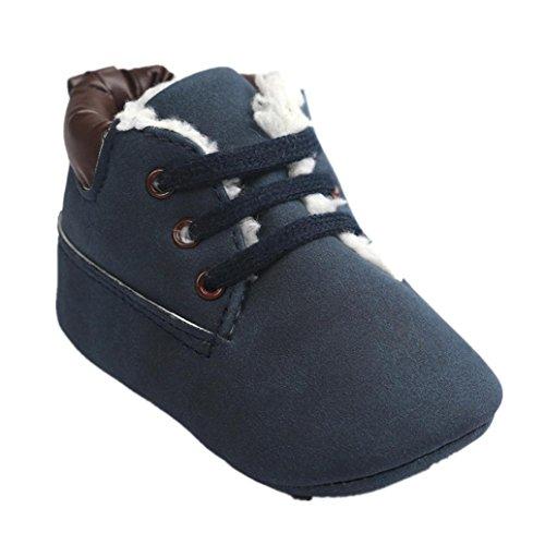 Clode® Mode Chaussures bébé Chaussures Sneaker Semelles souples Toddler (0 ~ 6 mois, Bleu foncé)