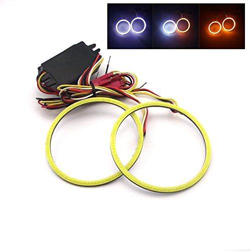 110mm Car COB Angel Eyes Halo Ring LED Light Lamp +Turn Signals - 3