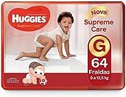 Huggies Fralda Supreme Care Xtra-Flex Hiper G, 64 Fraldas