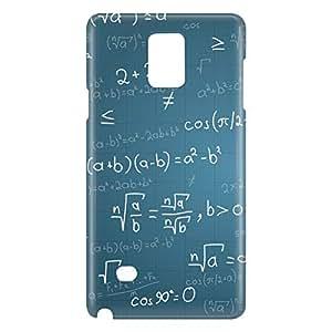Loud Universe Galaxy Note 5 Maths Print 3D Wrap Around Case - Blue/White