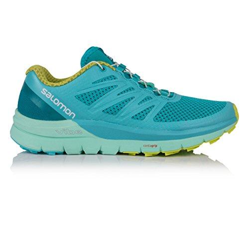Salomon Sense Pro MAX W, Zapatillas de Trail Running para Mujer Azul (Blue Curacao/Beach Glass/Acid Lime 000)