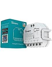 Sonoff Interruptor de cortina inteligente WiFi com certificação TUV de medição de energia, cortina faça-você-mesmo DualR3, persianas, obturador de rolo, interruptor inteligente bidirecional Funciona com Alexa e Google Assistant.