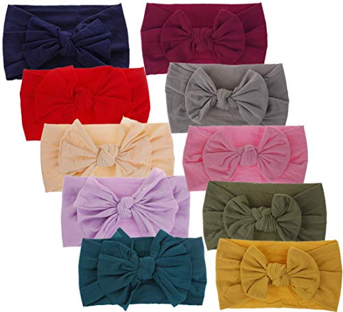 Baby Headbands Turban Knotted Girls Hairbands for Newborn Baby Toddler Childrens