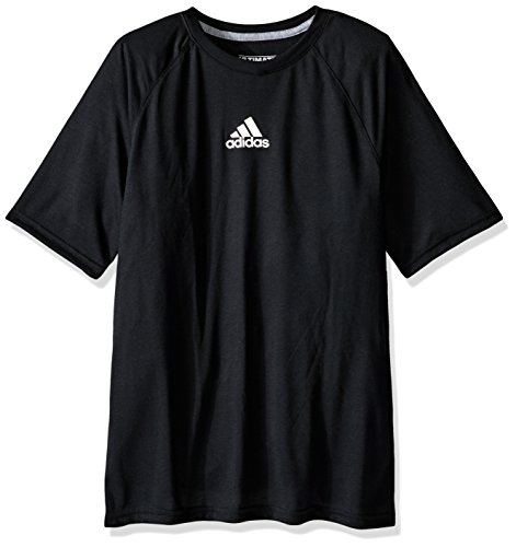 adidas Big Boys' Climalite Short Sleeve Graphic Tee, Black, Small/8 Adidas Climalite Short Sleeve Tee