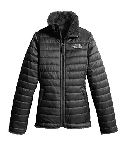 - The North Face Girl's Reversible Mossbud Swirl Jacket - TNF Black - S