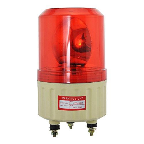 hzys Rotating Warning Light LTE-1081J 12v Red Warning Light Industrial Strobe Siren 90dB by hzys