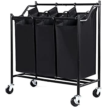 Amazon Com Laundry Sorter Maidmax Metal Rolling Heavy