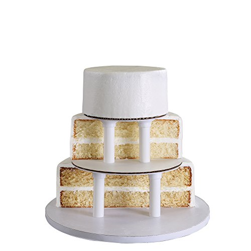 bakery crafts sps 3 tier round cake stacking kit import