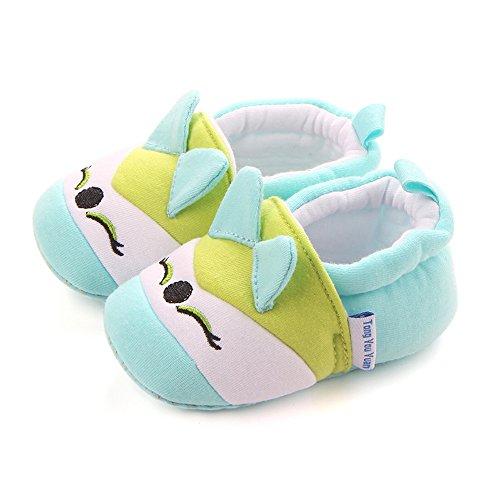 kingko® Frühling und Herbst niedlichen Baby kann nicht leisten, Schuhe weichen Boden rutschfeste Baby Schule Schuhe Sole Material Gummisohle Material der Schuhe Leinwand Grün