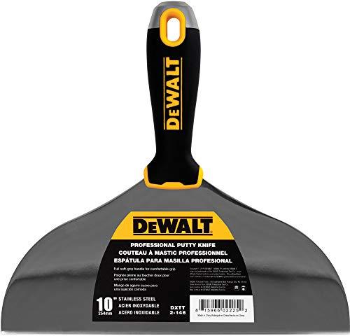 DEWALT 10 Putty Knife   Stainless Steel w/Soft Grip Handle   DXTT-2-146