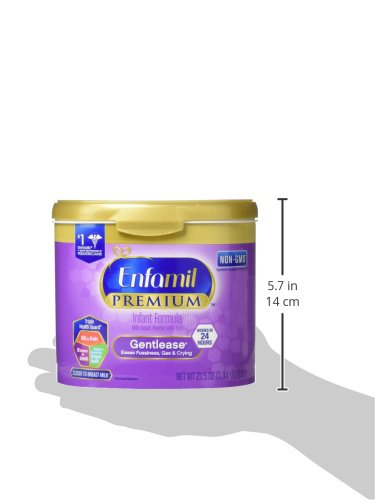 Enfamil PREMIUM Non-GMO Gentlease Infant Formula, Powder, 21.5 Ounce Reusable Tub, Pack of 4 by Enfamil (Image #13)