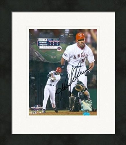 Autograph Warehouse 270574 Garret Anderson Autographed 8 x 10 in. Photo - Anaheim Angels 2002 World Series Matted & Framed