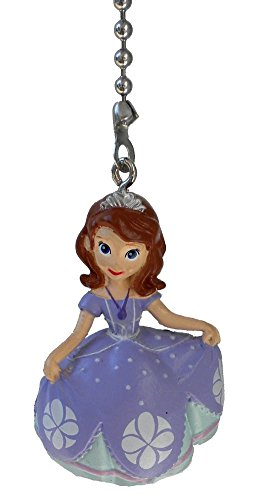 Disney Classic Disney PRINCESS movie assorted Character Ceiling FAN PULL light chain (Sofia the First)