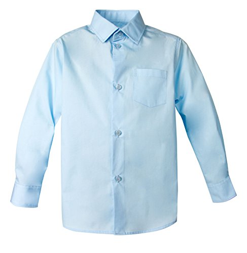 Spring Notion Big Boys' Long Sleeve Dress Shirt 2T Cool Blue
