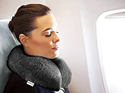 Enzo's Private Selection Cooling Gel Memory Foam Travel Neck Pillow, Grey