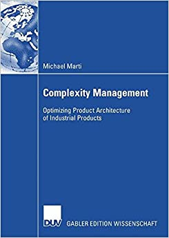Complexity Management: Optimizing Product Architecture of Industrial Products