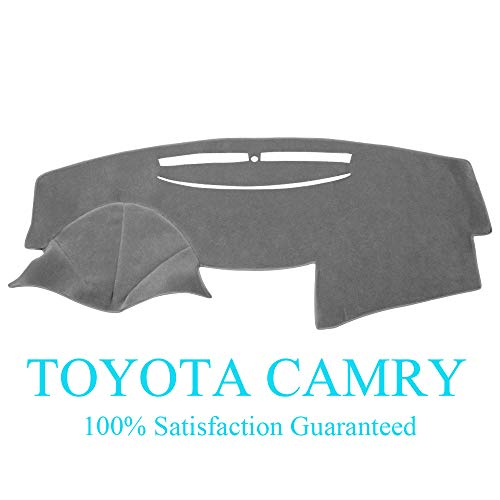 Dashboard Cover Dash Cover Mat Carpet Pad Fit for Toyota Camry 2007-2011 (Gray) Y27 ()