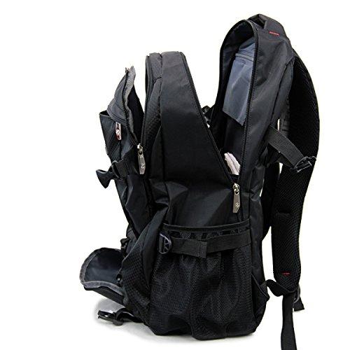 Rucksack Von ZAIYI Wasserdicht Hohe Kapazität Tragbar Schultertasche Zustrom Von Studenten Männer Und Frauen Im Freien Reisen Rucksack,Green Black