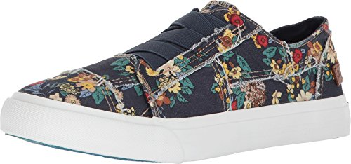 Blowfish Women's Marley Navy Japanese Floral Canvas 5.5 M US
