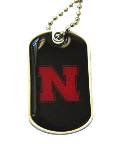 - aminco Nebraska Cornhuskers Dog Tag Necklace Charm Chain Ncaa