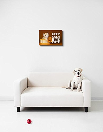 Keep Calm and Be Cute Wall Decor Stretched