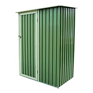 Charles Bentley 4.7ft x 3ft Metal Storage Shed Chest Small Green Roof Door Apex