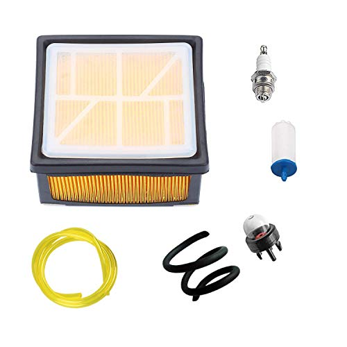 (Ketofa 574362302 Air Filter Kit with Fuel Line & Spark Plug for Husqvarna K760 Concrete Cut Off Saw Power Cutter 506264101 525470601 574362301)
