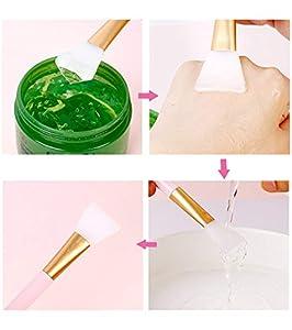 2 pc Silicone Hairless Facial Mask Brush Makeup Applicator Brush Mask Mud Brush Tools Mask Applicator Makeup Cosmetic Brush for Facial Eye Mask DIY Needs ...