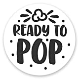 """80 Ready to Pop Stickers - Baby Shower Stickers for Popcorn Favor Bags (2"""" Round)"""