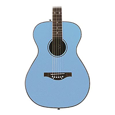 Daisy Rock Pixie Acoustic Guitar, Sky Blue