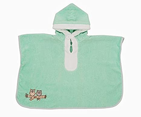 Slumbersac-Poncho de baño, toalla infantil 62 x 47 cm, diseño bordado con diseño de jirafa: Amazon.es: Bebé
