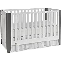 Fisher-Price Jaxon 3-in-1 Convertible Crib White/Stormy (Gray)