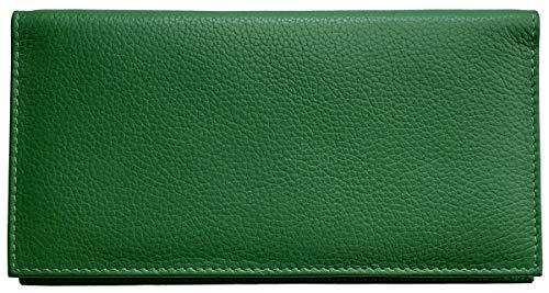 Emerald Green Basic Leather Checkbook Cover