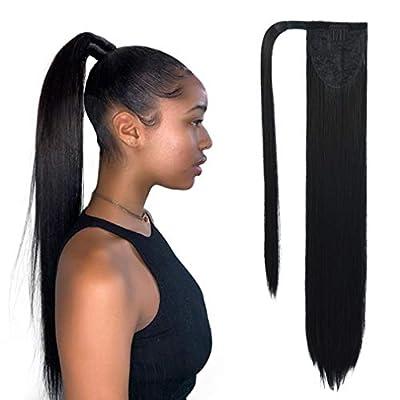 SEIKEA Clip in Ponytail Extension Wrap Around Straight Hair for Women