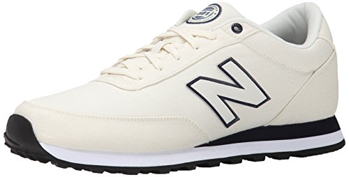 New Balance Men's ML501 Rugby Collection Classic Running Shoe, White, 8 D US