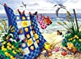 Seaside Summer - Beach Family Puzzle - 500 PC Large Piece Size Jigsaw Puzzle by SunsOut