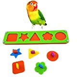 Hestio Colorful Different Shapes Building Blocks Parrot Bird Educational Intelligent Training Toys (M (27 x6cm))